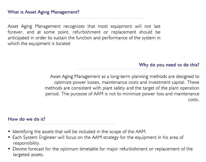 Asset Aging Management
