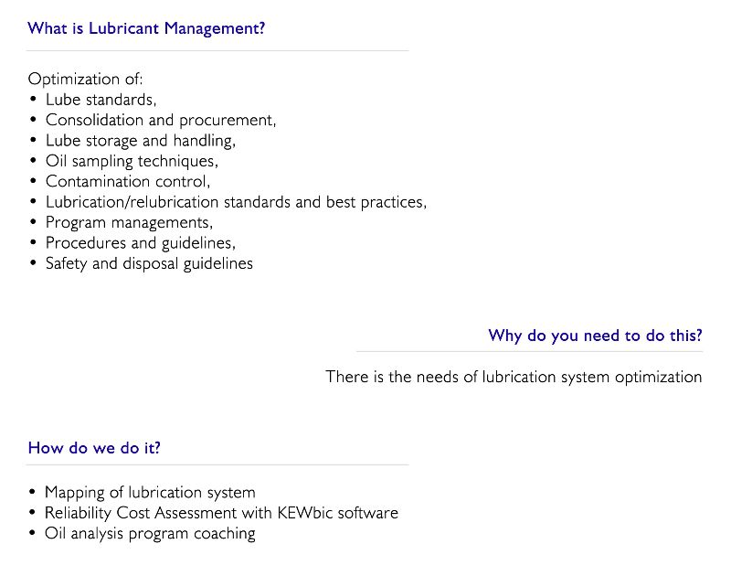 Lubricant Management