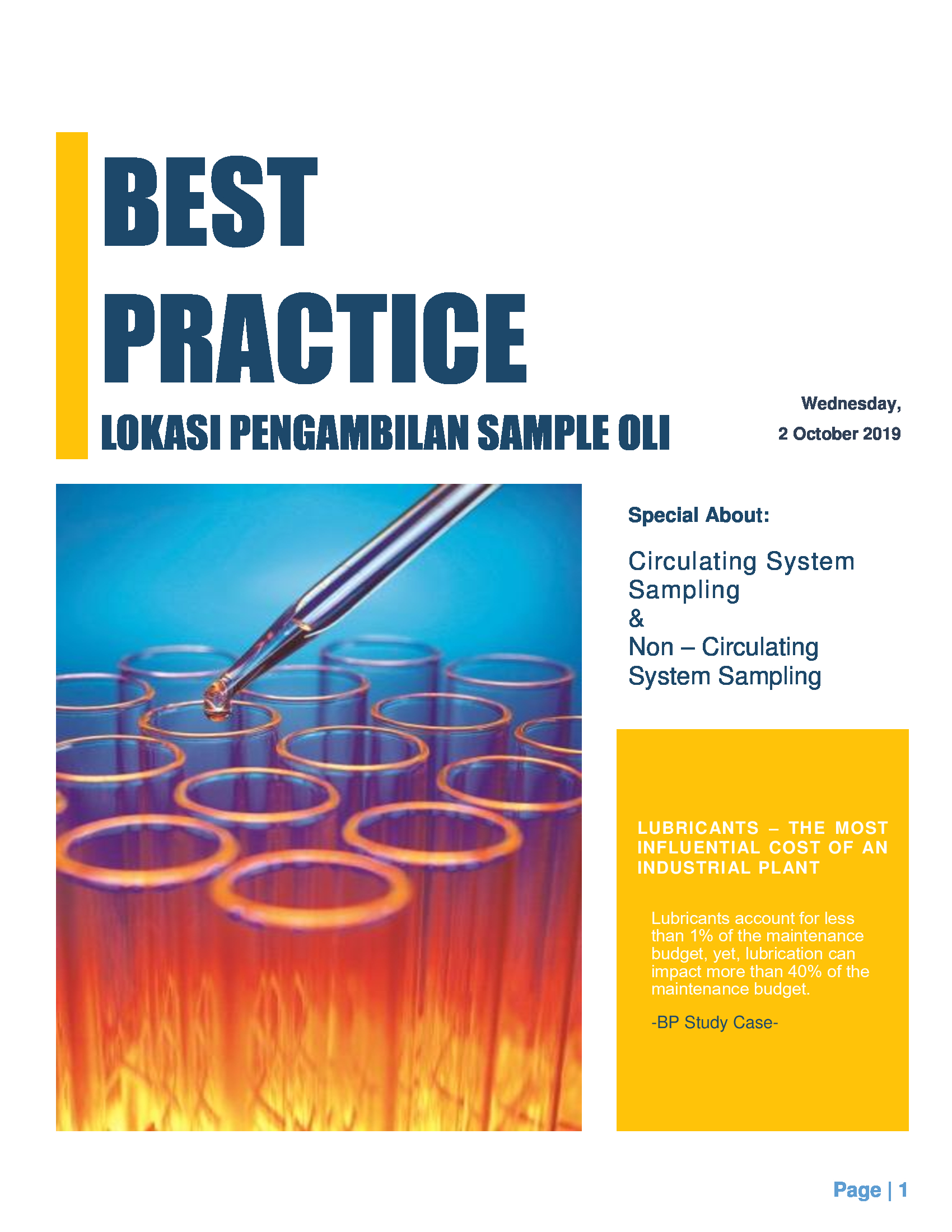 Oil Sampling Best Practice