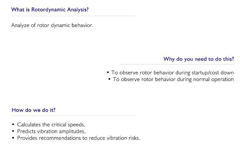 Rotordynamic Analysis